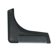 EZGO Beard Template Shaping Tool Beard Shaper Guide Comb With Hanging Hole, Black