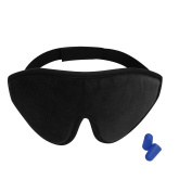 3D Sleep Mask - Lightweight & Comfortable Eye Mask - Blindfold Eye Shield with Ear Plugs,Travel Pouch - For Men Women Kids Who are on Aeroplane, Office and Bed - A Perfect Gift For Eyes