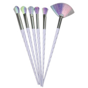 King Love Star Unicorn Makeup Brushes 5 pcs/set Make Up Brushes Professional Rainbow Hair Cosmetic Foundation Blush Powder Profile Blending Brush