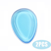 YANQINA 2Pcs/Pack Silicone Makeup Sponge-Gel Foundation Makeup and Puff BB - Droplet Shape,Blue