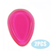 YANQINA 2Pcs/Pack Silicone Makeup Sponge-Gel Foundation Makeup and Puff BB - Droplet Shape,Rose Red