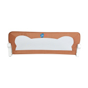Foldable fabric bed rail Bas Brown | Bed gate | Bed guard | 120 x 36 x 42 cm | Safety bed rail guard for baby and kids