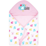 Newborn Swaddle Wrap Baby Swaddling Blankets Sleeping Bags Infant Hooded Blanket for 0-6 Months