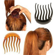 cuhair 3pcs New Girl Volume Inserts Hair Clip Ponytail Hair Comb Accessories For Woman
