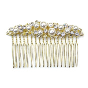rougecaramel - - Side Comb Hair Accessories Beads and Rhinestones for Wedding and Event 7.5 cm