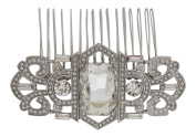Pick A Gem Wedding Hair Accessories Vintage Diamante Crystal Bridal Hair Comb Bridesmaid Mother of The Bride Silver Finish