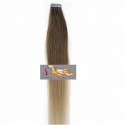 CarolsWigs® Best Quality 60cm Ombre Top Golden Brown Bottom Honey Blonde T12/20 Tape-In 100% Premier Remy Human Hair Extensions 5A* UK Seller