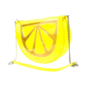 AiSi Girls Mini Cross Body Bag Cute Lemon Shape Chain Shoulder Purse