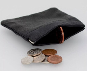 MENS LADIES BLACK REAL LEATHER COIN POUCH PURSE WALLET 1476