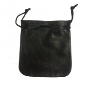 Small Cab/Taxi Drivers Drawstring Pouch Black Leather