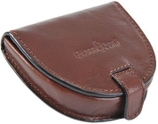 Gianni Conti Fine Italian Brown Leather Coin Tray Purse GIFT BOXED 907086