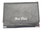Soft Leather Coloured Bus / Train Pass / ID / Oyster / Travel Card Holder With Zip Up Coin Section