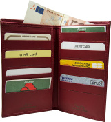 Leather credit card holder - Leather document wallet - Made in Italy