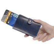 ManChDa RFID Blocking Credit Business Card Holder Aluminium Pop-up Card Case Men Pocket Money Wallet Blue