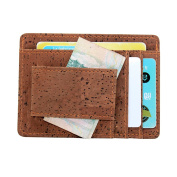 Money Clip, Boshiho Eco-friendly Cork Credit Card Holder Slim Design Front Pocket Wallet
