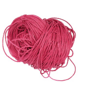 Jili Online 80 Metres 1.5mm Cotton Cords Strings Ropes For DIY Necklace Bracelet Beading Jewellery Making - Fuchsia