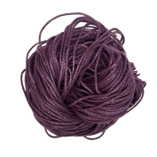 Jili Online 80 Metres 1.5mm Cotton Cords Strings Ropes For DIY Necklace Bracelet Beading Jewellery Making - Purple