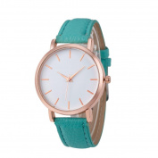 Womail Elegant Unique Classic Fashion Faux Leather Quartz Strap Wrist Watch Stainless Steel Case , Comfortable Leather Band