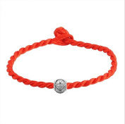 2015 red string editing simple and stylish woman with transfer beads bracelet wholesale