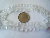 Beads, Genuine Rose Quartz Faceted Flat Round 6mm -12pcs
