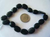 Beads, Black Tourmaline 12x8mm - 4pcs