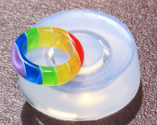 Clear handmade Silicone Mould for Ring sizes 7. Free USA shipping
