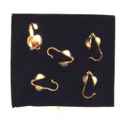Imagine If... 10 Pieces 14K Gold Filled Clam Shell Bead Tip With Hook / Findings / Knot Covers