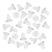 100 YiDaPing Clear Rubber Bullet Clutch Earring Safety Backs