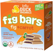 Little Duck Organics Fig Bars - Fig + Carrot - 6ct120ml