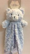 Kyle & Deena Plush & Satin Blue Bear Security Blanket