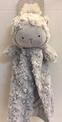 Kyle & Deena Plush & Satin Grey Lamb Security Blanket