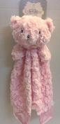 Kyle & Deena Plush & Satin Pink Bear Security Blanket