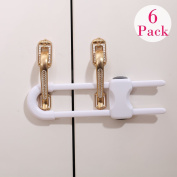 Eudemon U Shaped Kids Proofing Cupboard & Cabinet Locks for Knobs & Handles in Kitchen ,Bathroom and etc.