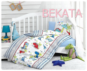 Bekata Dino Dinosaurs Baby Duvet/Quilt Cover Set Bedding Set 100% Ranforce Cotton Turkish Cotton Comforter Cover Toddler Infant Bedding Sheet Set 4 Pieces