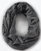 Loop-dee Black & White Mini Stripe Nursing Infinity Scarf