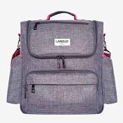 Adjustable Shoulder Straps Nappy Bag Outfit, LANDUO