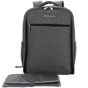 Leke Nappy Backpack with Unisex for Mom and Dad, Grey