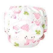 Qike Baby Cloth Nappy Cover Adjustable Reusable Washable Nappy Pink size 90