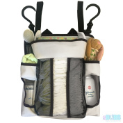 Nursery Nappy Caddy Baby Organiser - Extra Strong Back Support Non Sagging Storage with Multiple Hanging Options