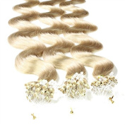 50 x 0.5g Human Hair Micro Ring/Loop Extensions (50 cm - Hair Extension Remy Quality - Available in a Range of Colours Very Good Quality #20 aschblond