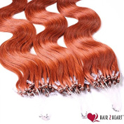 50 x 0.5g Human Hair Micro Ring/Loop Extensions (50 cm - Hair Extension Remy Quality - Available in a Range of Colours Very Good Quality
