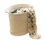 Cotton Rope Woven Storage Baskets with Handles Clothes Hamper Toys Nursery Bins Closet Organisation