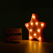 Star LED Night Light,YiaMia Plastic Lovely Table Night Lamp for Kids' Room Home Decorations Party Light Children Toys