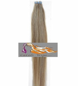 CarolsWigs® Best Quality 50cm Lighter Ash Blonde Mix Lightest Blonde 18/613 Tape-In 100% Premier Remy Human Hair Extensions 5A* UK Seller