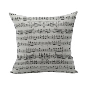 Nunubee Words Printed Soft Pillowcase Cotton Cushion Cover Square Decorative Home Accessories Style 11
