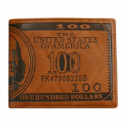 Gemini_mall® Men Pockets Card US Dollar Bill Money Wallet Foldable PU Dollar Wallet