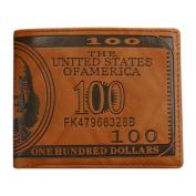 Gemini_mall® Men Pockets Card US Dollar Bill Money Wallet Foldable PU Dollar Wallet