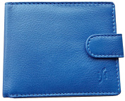 Starhide Mens RFID BLOCKING Wallet Blue Genuine Top Grain Leather Trifold Wallets - Coin Pouch - ID Holder #710
