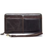 Mens genuine hide leather large clutch s organiser 9020