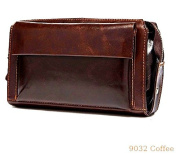 Mens genuine hide leather large clutch s organiser 9013